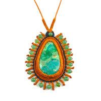 gemstone-rust-orange-macrame-pendant-necklace-chrysocolla-jade-fiber-art-jewelry-rumisumaq-designer-Coco-Paniora-Salinas-2 copy.jpg
